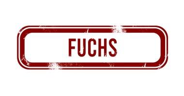 Fuchs - red grunge button, stamp stock vector