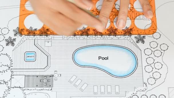 Architecte Paysagiste Conçoit Le Plan De Jardin Avec Piscine Villa De Luxe
