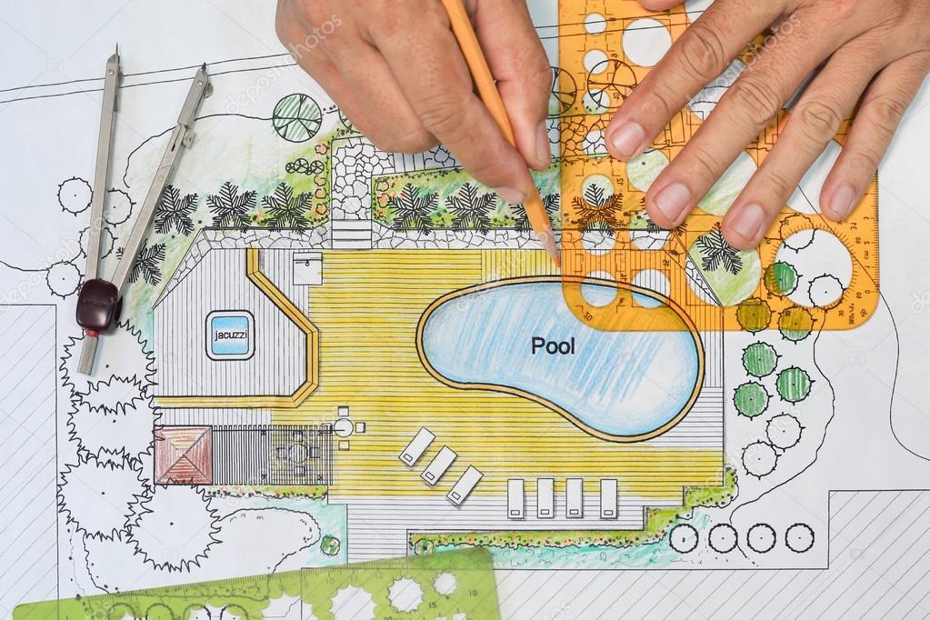 Architecte paysagiste con oit le plan de jardin avec for Tarif paysagiste