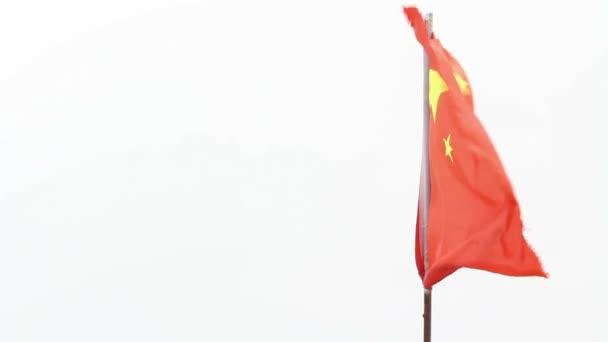 China flag blowing in the wind , Lijiang Yunnan China