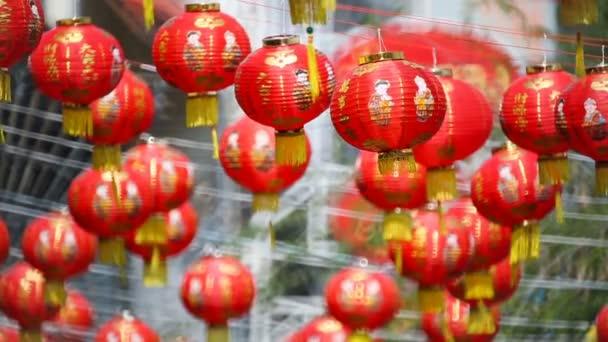 Chinesisches Neujahr-Laternen mit Segen Text bedeuten glücklich ...
