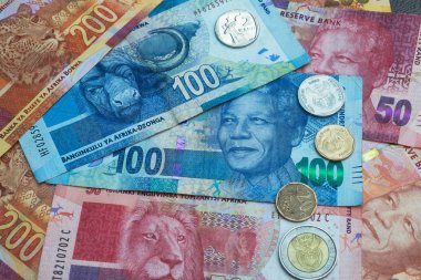 Set of South Africa currency