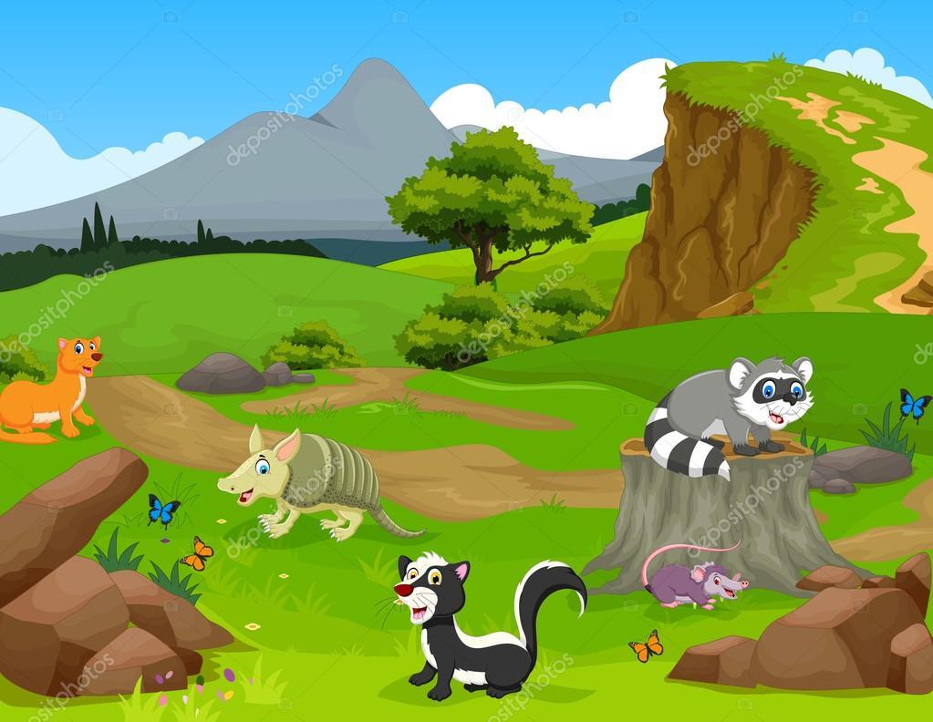 Fondos De Animales Animados: Imágenes: Paisaje Animales