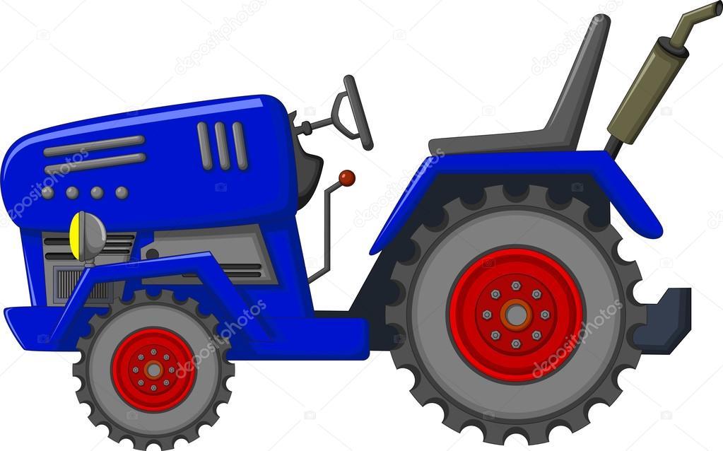Kresleny Modry Traktor Pro Vas Design Stock Fotografie