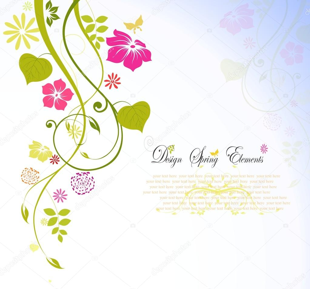 Flower spring background with text for you design
