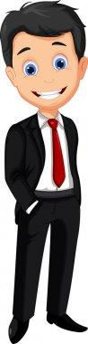 Vector illustration of business man cartoon stock vector