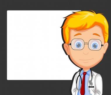 Handsome doctor cartoon