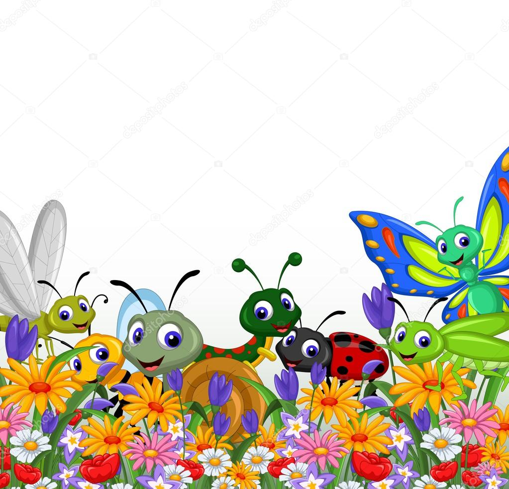 Cute collection of insects