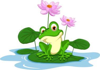 "Картина, постер, плакат, фотообои ""смешная карикатура на зеленую лягушку "", артикул 67787865"