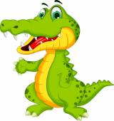 Photo Cute crocodile cartoon