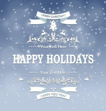 Happy holidays abstract background