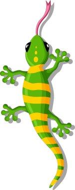 Green gecko cartoon for you design