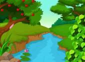 Fényképek erdei folyó, design