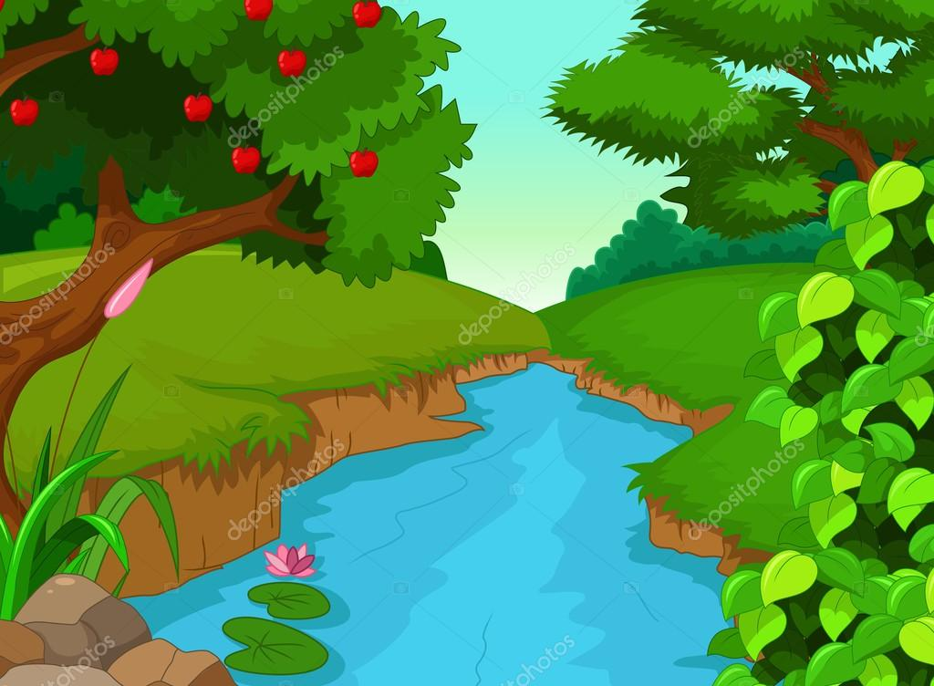 forest with river for you design