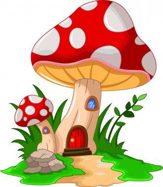 Cartoon mushroom house for you design