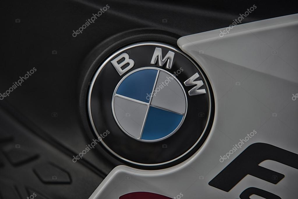 Wroclaw - APRIL 23: BMW sign on motorcycle at the Motor Show on April 23, 2016 in Wroclaw Poland.