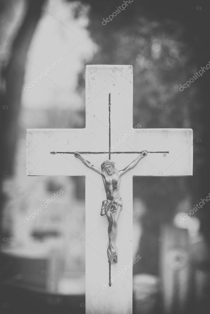 Imágenes Cristo Blanco Y Negro Cerca De Cruz De Jesús Cristo En