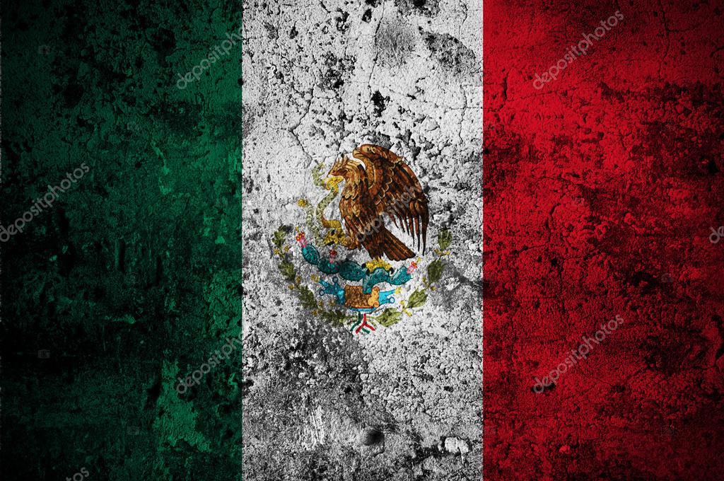 Drapeau De Grunge Du Mexique Avec Pour Capitale La Ville De Mexico