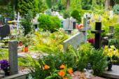 Fotografie Gräber auf dem katholischen Friedhof