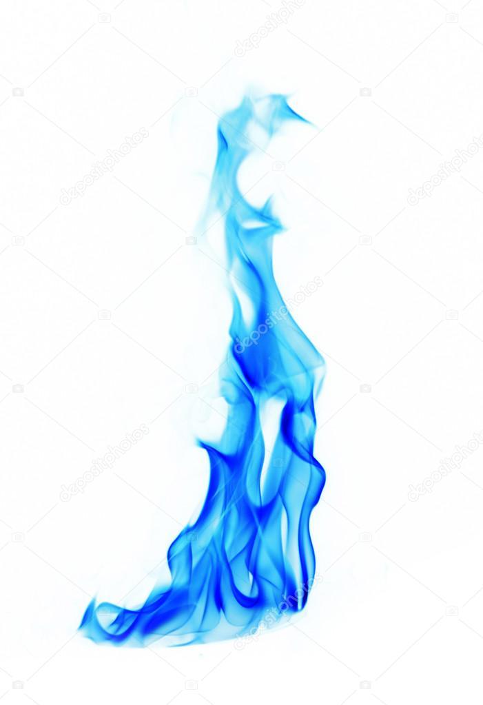 Flammen Hintergrund Feuer Blaues Auf Weißem shxrtQdCBo
