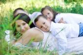 roztomilá rodina na přírodu
