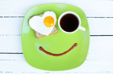 Start morning with cute breakfast