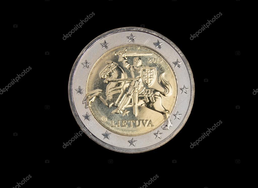 Litauische 2 Euro Münze Stockfoto Eans 61046597