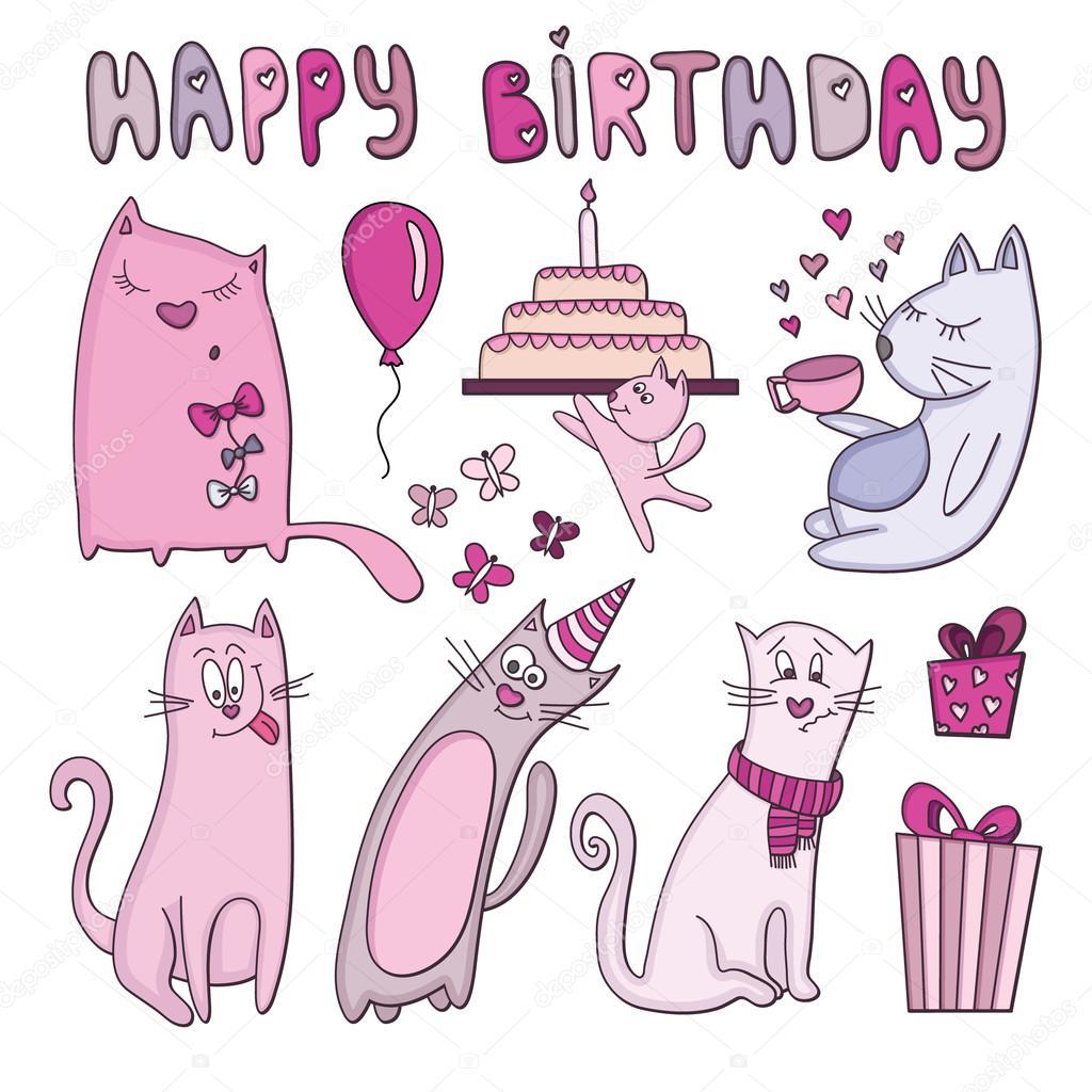födelsedagskort roliga Födelsedagskort med roliga katter — Stock Vektor © sntpzh #66722327 födelsedagskort roliga