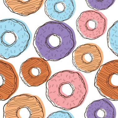 Pattern with donuts and cookies