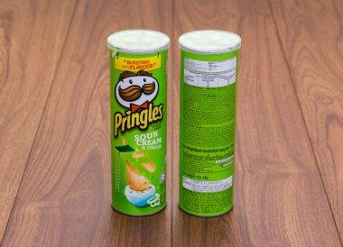 Bangkok, Thailand - January 3, 2015: Pringles Sour Cream and Oni