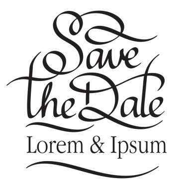 Save the date hand lettering