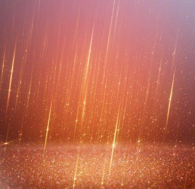 Glitter vintage lights background  abstract gold background  defocused stock vector