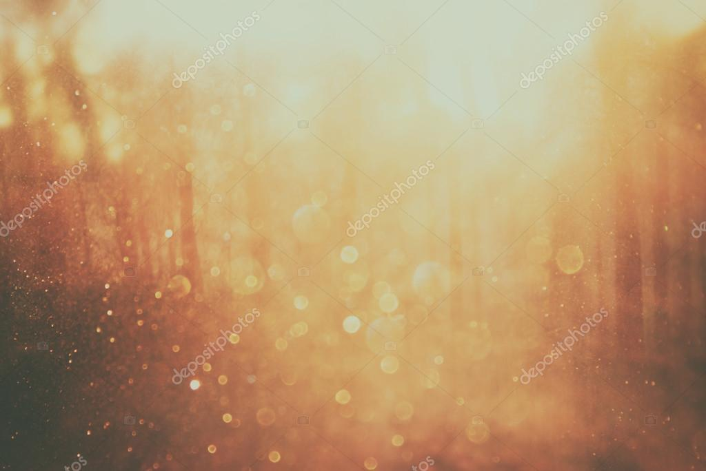 Background image of light burst among trees. image is retro filtered instagram style.