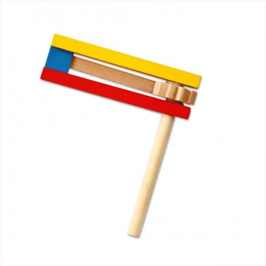 Wooden noisemaker or gragger for purim celebration holiday (jewish holiday)