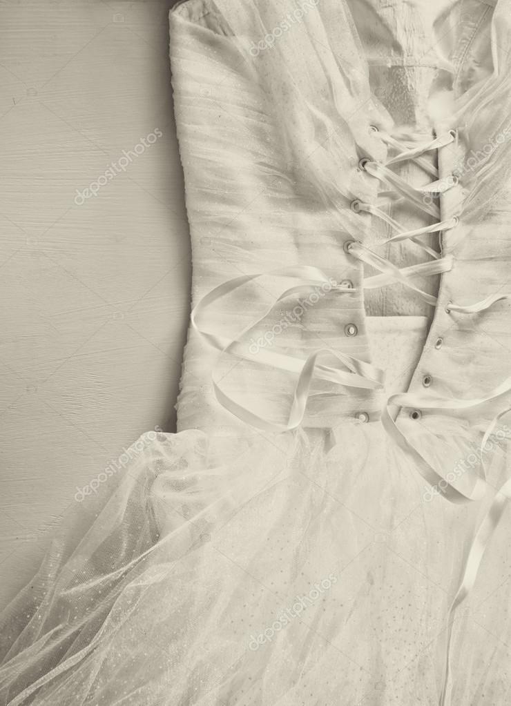 Vintage Hochzeit Kleid Korsett Hintergrund Hochzeit Konzept