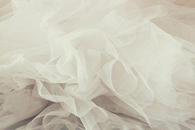 Vintage tulle chiffon texture background. wedding concept