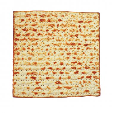 Passover background. matzoh (jewish passover bread) isolated