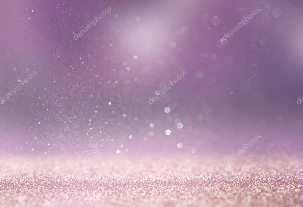 Bokeh lights background with multi layers and colors of white silver and gold