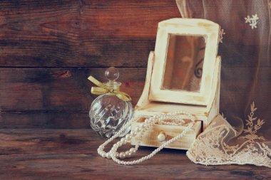 Antique wooden jewelry box
