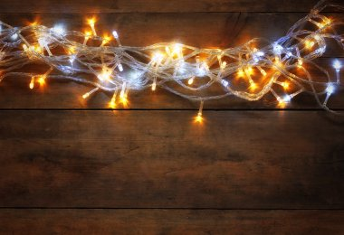 Christmas gold garland lights