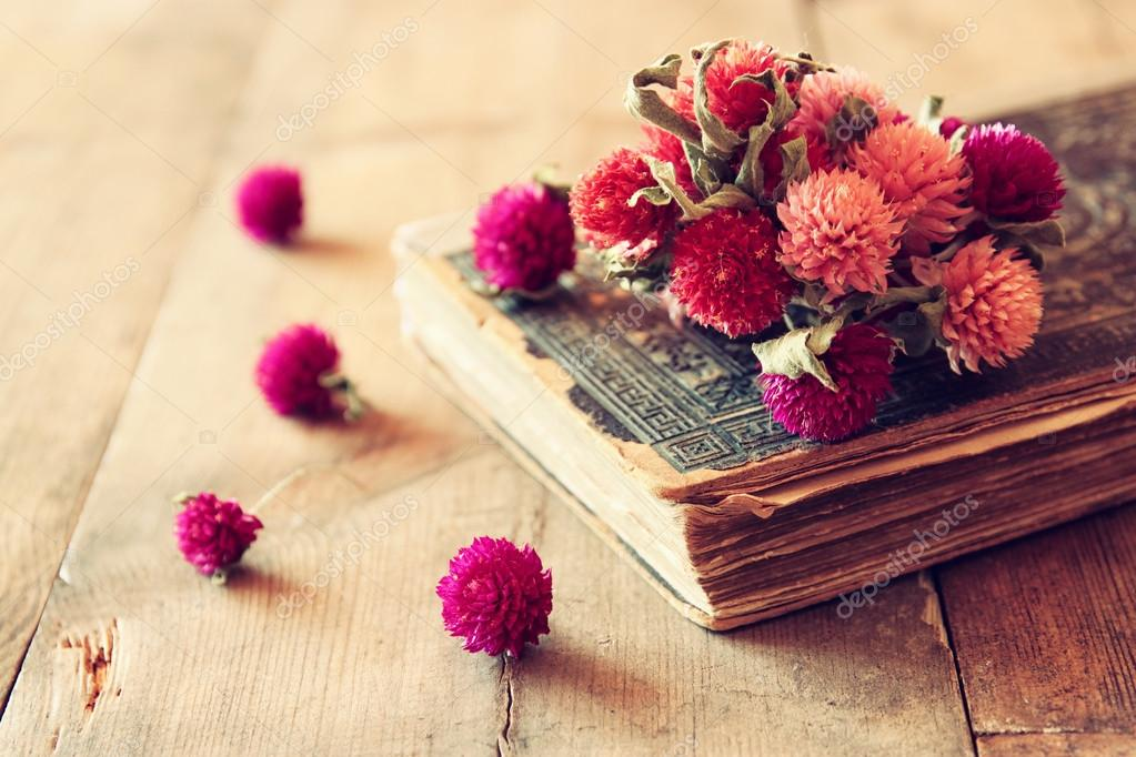 Dry Flowers And Book Stock Photo C Tomert 80774662