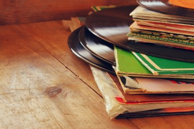 records stack with record