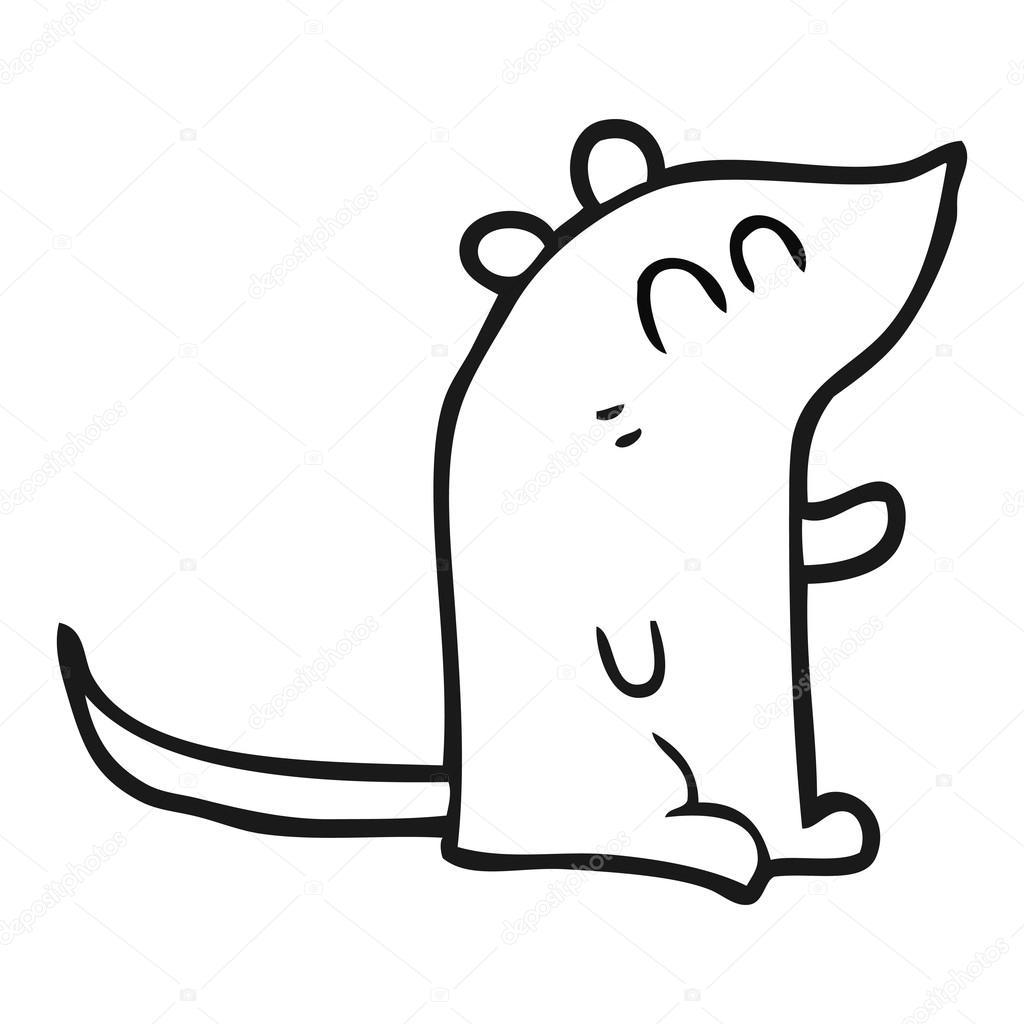 schwarzen und weißen Cartoon-Maus — Stockvektor © lineartestpilot ...