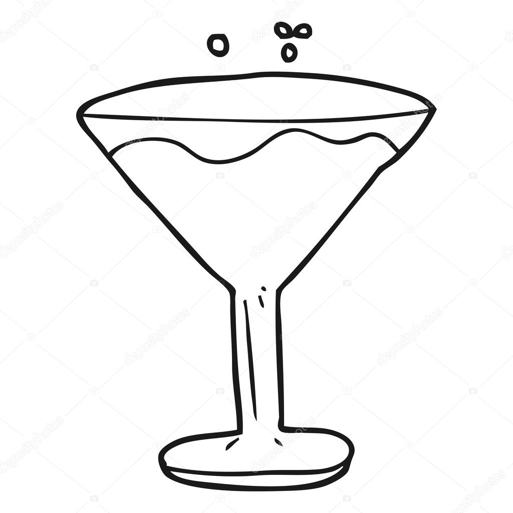 Fabuleux animé noir et blanc cocktail — Image vectorielle #101456240 FW22