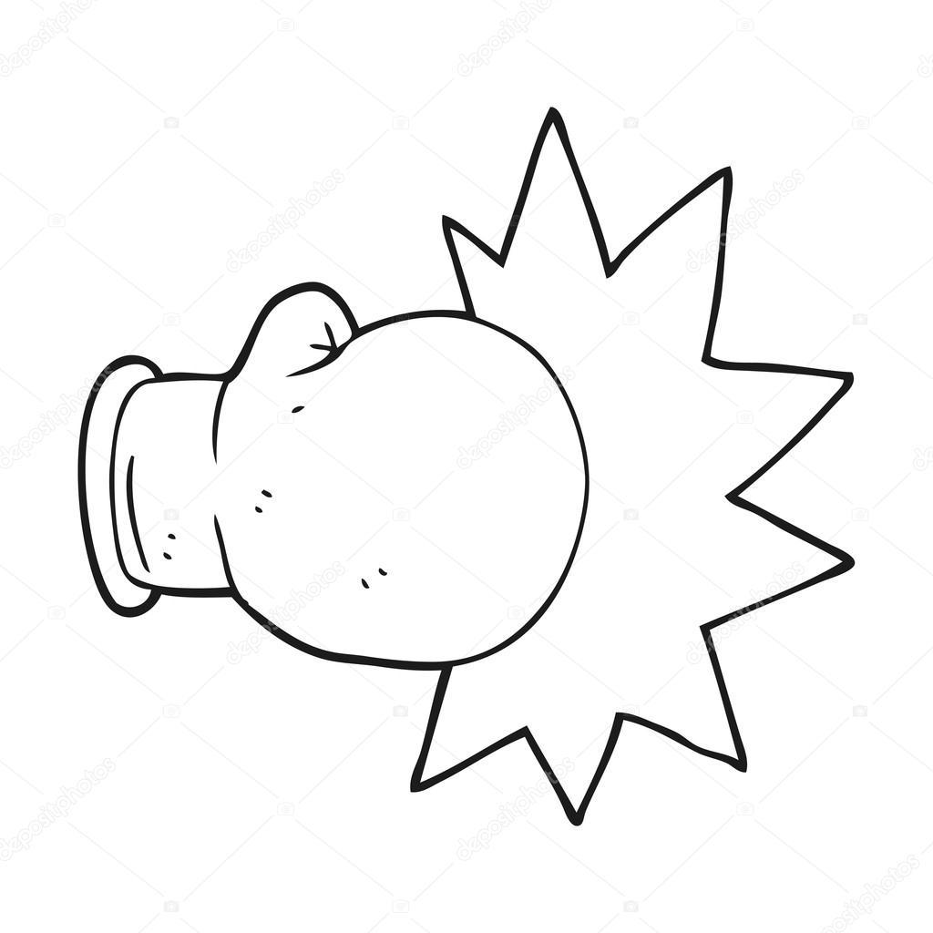 dibujos guantes de box guantes de boxeo blanco y negro de dibujos