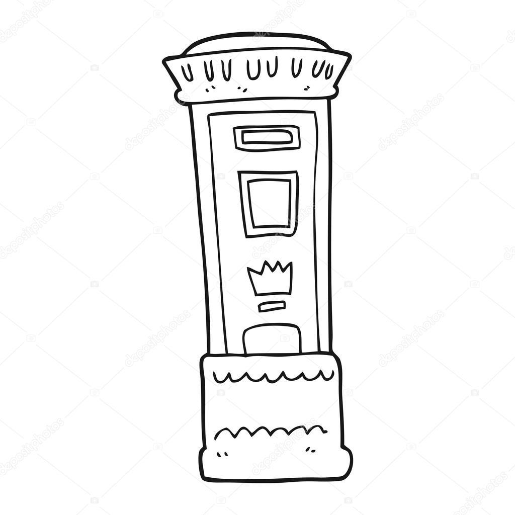 Buzon De Correos Para Colorear Caja De Correos Británico De