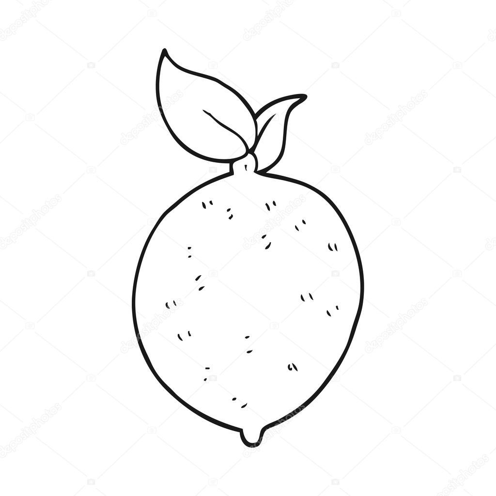 Cerne A Bile Kreslene Citron Stock Vektor C Lineartestpilot 101457836