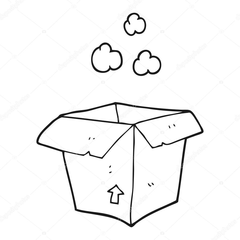 Dibujos Caja Vacia Dibujo Caja Vacía De Dibujos Animados Blanco Y