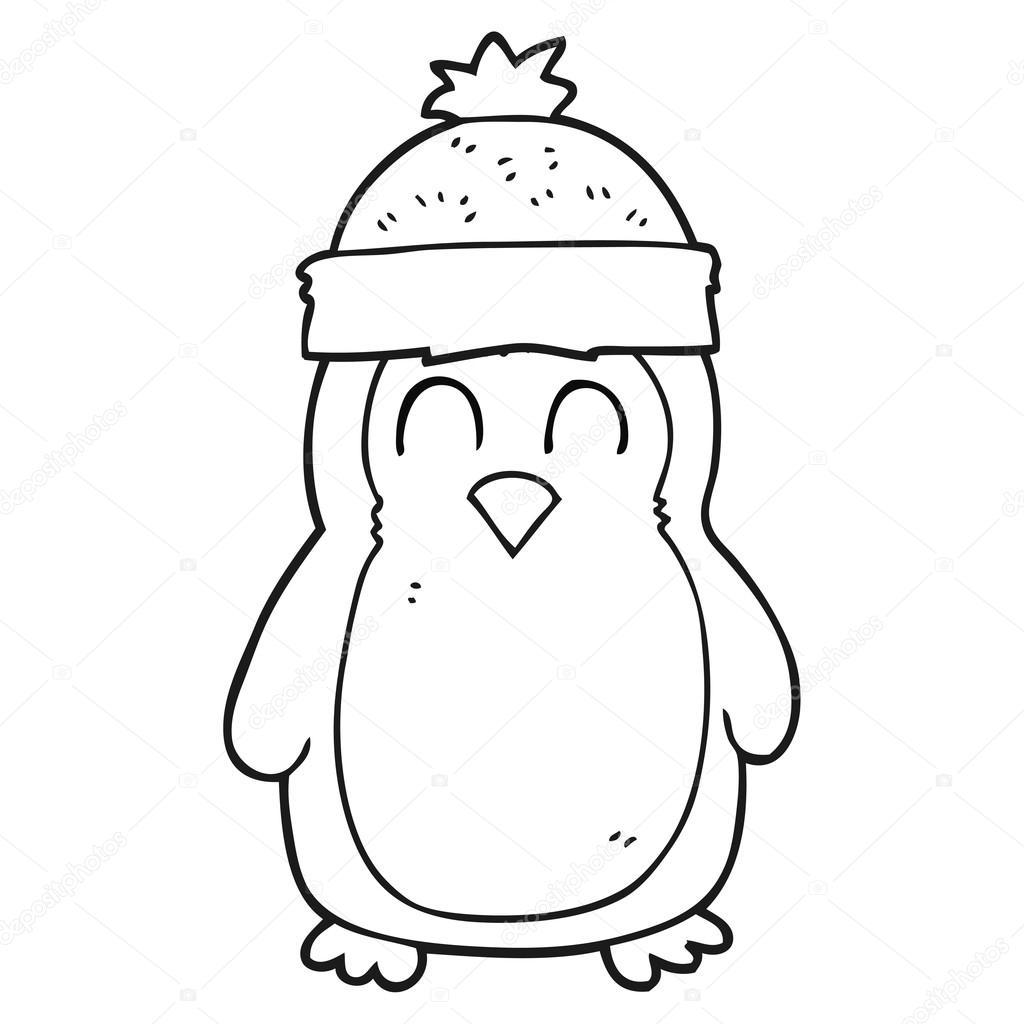 Dibujos Para Colorear De Pinguinos Navidenos Pinguino De Dibujos