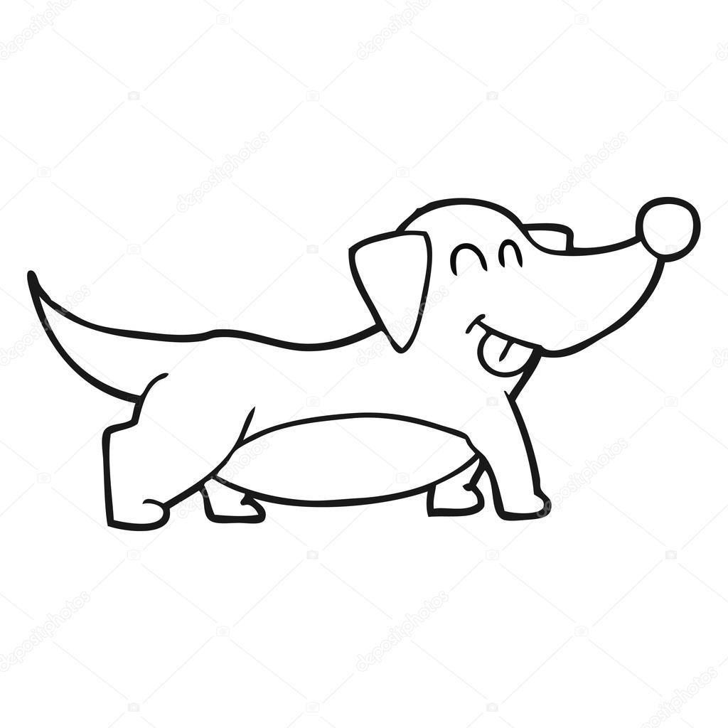 Noir et blanc dessin anim joyeux petit chien image vectorielle lineartestpilot 101462376 - Dessin de petit chien ...